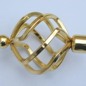 Наконечник для карниза Булава D16 золото (40 пар/короб)