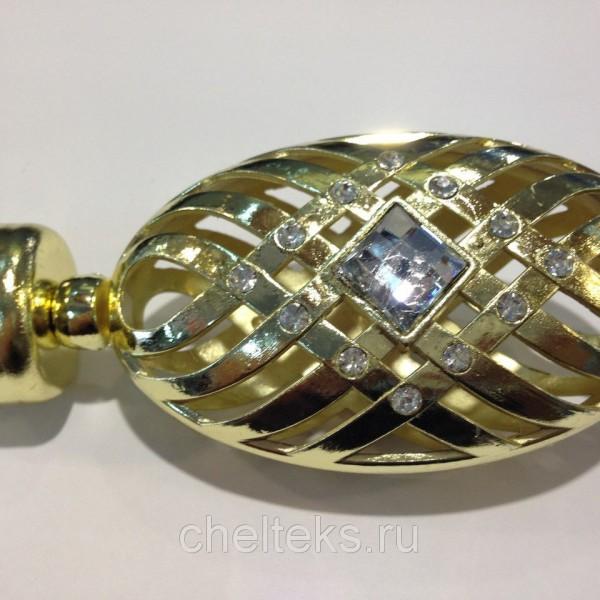 Наконечник для карниза Калабрия  D16 золото (200 пар/короб)