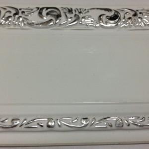 Бленда Ажур 7 см бел+серебро