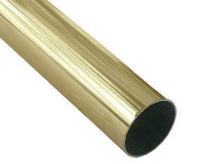 Карниз метал. труба гладкая D16-1.8 золото (20 шт/уп)