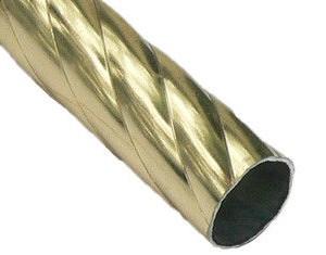 Карниз метал. труба фигурная D25-3.0 золото (20 шт/уп)