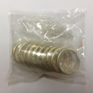 Кольцо круглое для карниза(комплект10шт+пластмассовые крючки10шт) D16 золото (100 упак/короб)