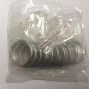 Кольцо круглое для карниза(комплект10шт+пластмассовые крючки10шт) D16 сатин (100 упак/короб)