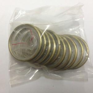 Кольцо круглое для карниза(комплект10шт+пластмассовые крючки10шт) D25 антик (100 упак/короб)