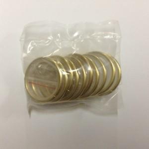 Кольцо круглое для карниза(комплект10шт+пластмассовые крючки10шт) D25 золото (100 упак/короб)
