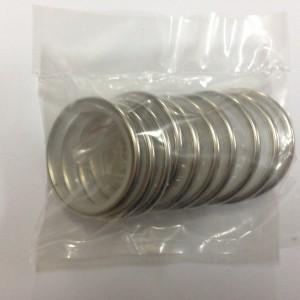 Кольцо круглое для карниза(комплект10шт+пластмассовые крючки10шт) D25 хром (100 упак/короб)