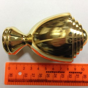 Наконечник для карниза Аванти D25 золото (50 пар/короб)