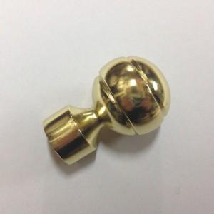 Наконечник для карниза Шар Рифленый D16 золото (100 пар/короб)