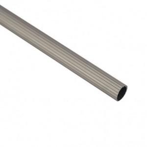 Карниз метал. труба рифленая D25-2.4 сатин (20 шт/уп)