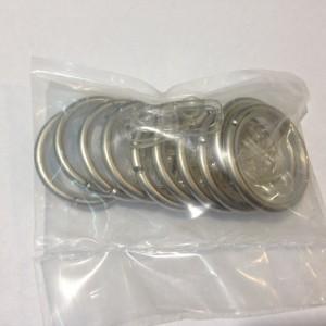Кольцо круглое для карниза(комплект10шт+пластмассовые крючки10шт) D25 сатин (100 упак/короб)