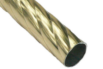 Карниз метал. труба фигурная D16-2.4 золото (20 шт/уп)