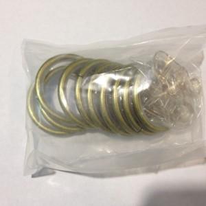 Кольцо круглое для карниза(комплект10шт+пластмассовые крючки10шт) D19 антик (100 упак/короб)