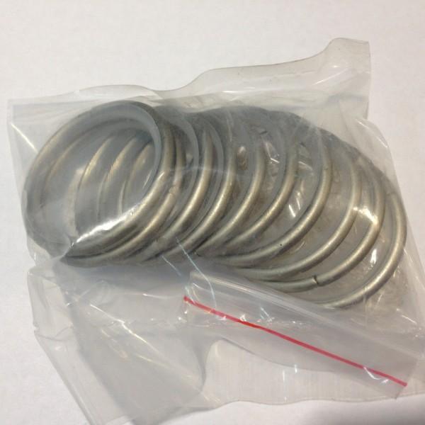 Кольцо круглое для карниза(комплект10шт+пластмассовые крючки10шт) D19 сатин (100 упак/короб)