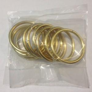 Кольцо для карниза Эконом(комплект 10 шт ) D19 золото (100 упак/короб)