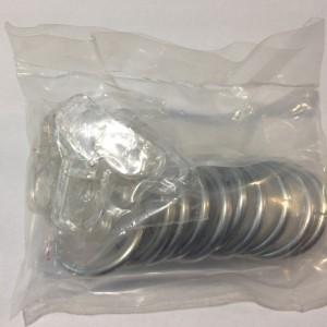 Кольцо круглое для карниза(комплект10шт+пластмассовые крючки10шт) D16 хром (100 упак/короб)