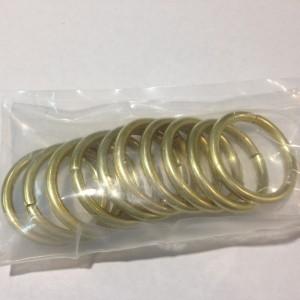 Кольцо для карниза Эконом(комплект 10 шт ) D16 золото (100 упак/короб)